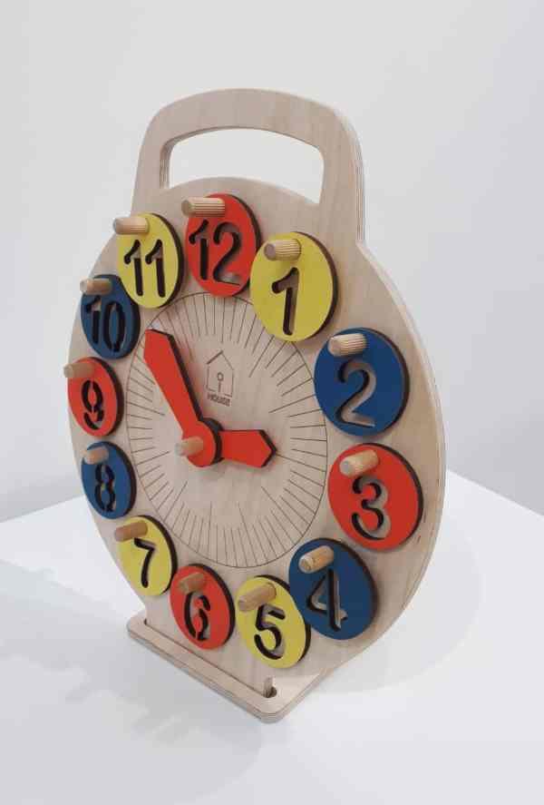 LiL HOUSE деревянные, обучающие часы для детей