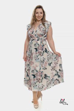 Нежна вечерна рокля с цветя