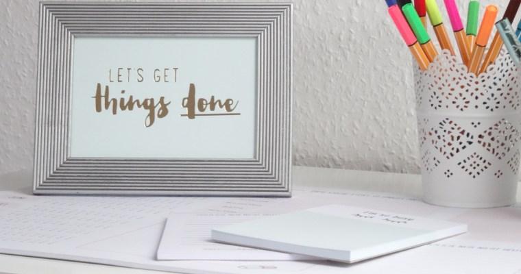 GET THINGS DONE: 5 Tipps für mehr Produktivität //planning