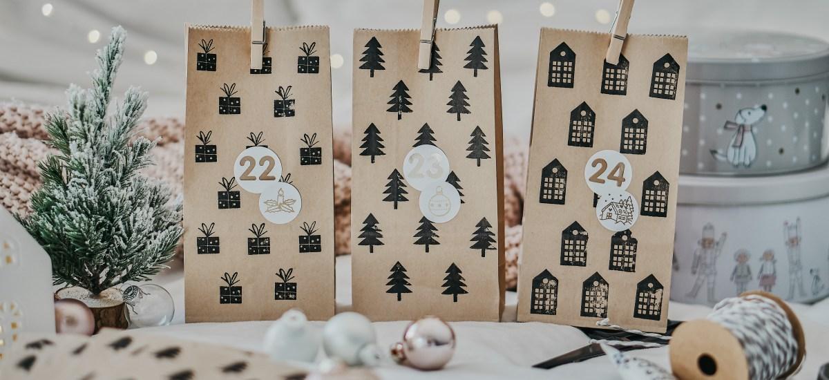 DIY: einfachen Adventskalender basteln + Ideen zum Befüllen