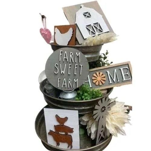 Farmhouse 3-Tier Tray Set