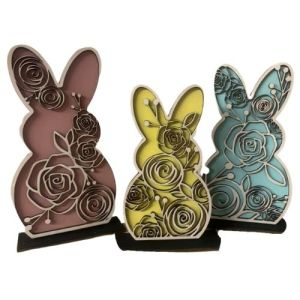 Layered Bunny Trio