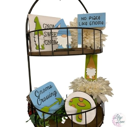 Gnome Place Like Home Tiered Tray Set