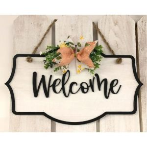 Welcome Shiplap Sign