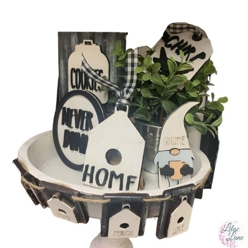 Rae Dunn Inspired Tired Tray by Lilac Lane DIY