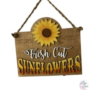 Fresh Cut Sunflowers Wall Hanger by Lilac Lane DIY