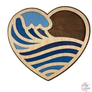 Ocean Wave Layered Heart by Lilac Lane DIY