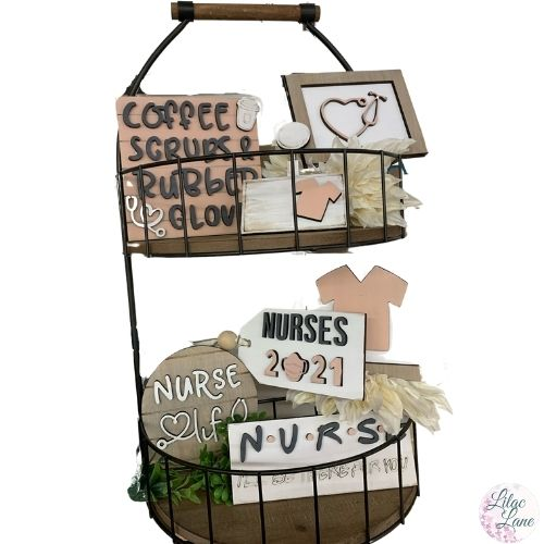 Nursing Tiered Tray Set