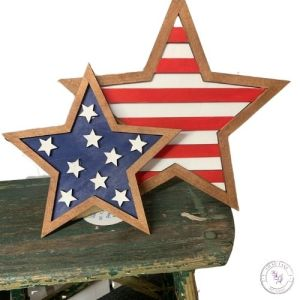 Leaning Patriotic Stars