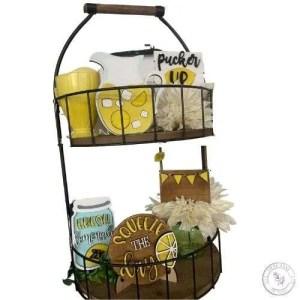 Lemonade Tiered Tray Set