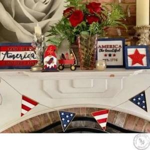 patriotic mantel decor