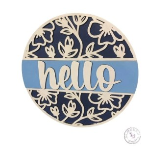 Floral Hello Sign