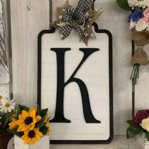 Monogram initial K