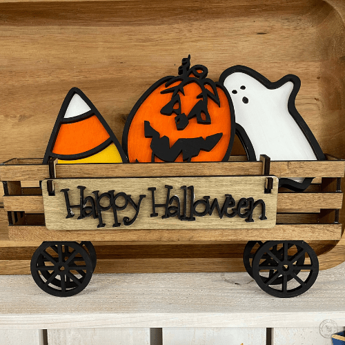 Happy Halloween Set for Wooden Wagon