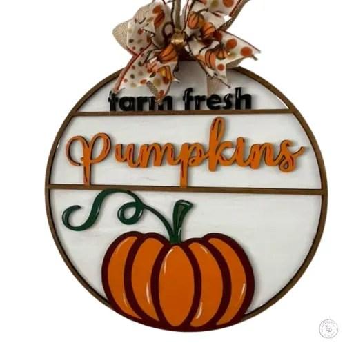 Farm Fresh Pumpkins Door Hanger