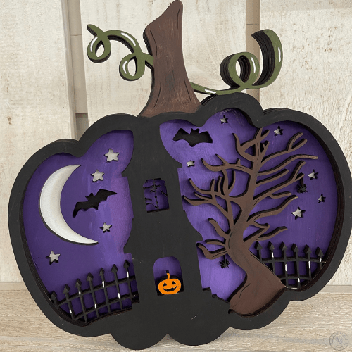 4 layer spooky scene pumpkin