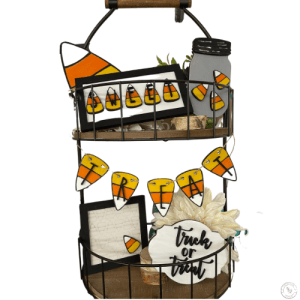 Candy Corn Tiered Tray Set