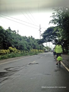 Riding out to Laiya. The weather was bike-perfect. Not so hot, not so cold, drizzling.