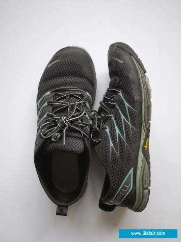 ALL TERRAIN SHOES: These Merrell shoes never left my feet since they were given to me. Suitable for biking, light trekking, hiking, and even swimming.