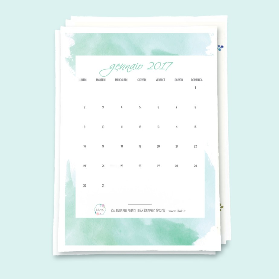 calendario 2017 stampabile free printable