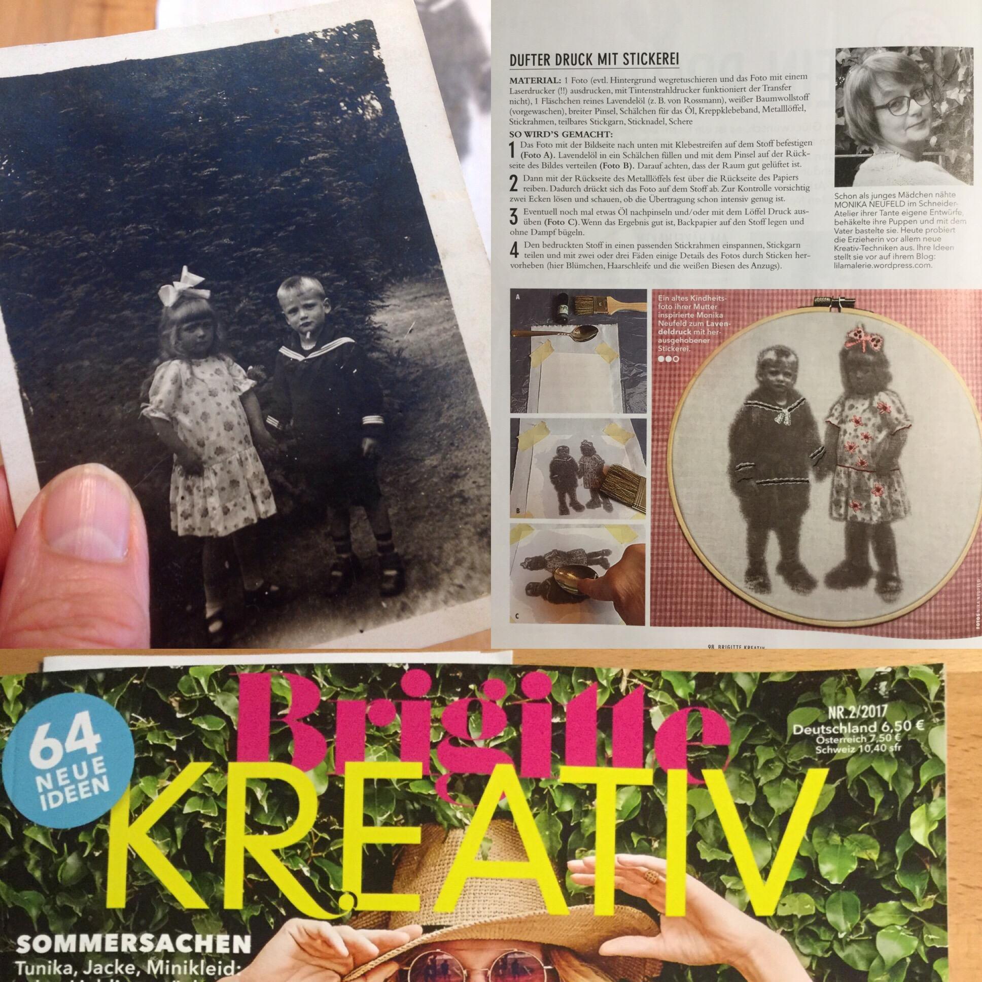 """Erinnerungen an meine Mama – oder – Wie das Mädchen mit der großen Schleife dafür sorgte, dass mein Foto in der neuen """"Brigitte Kreativ"""" erscheint"""