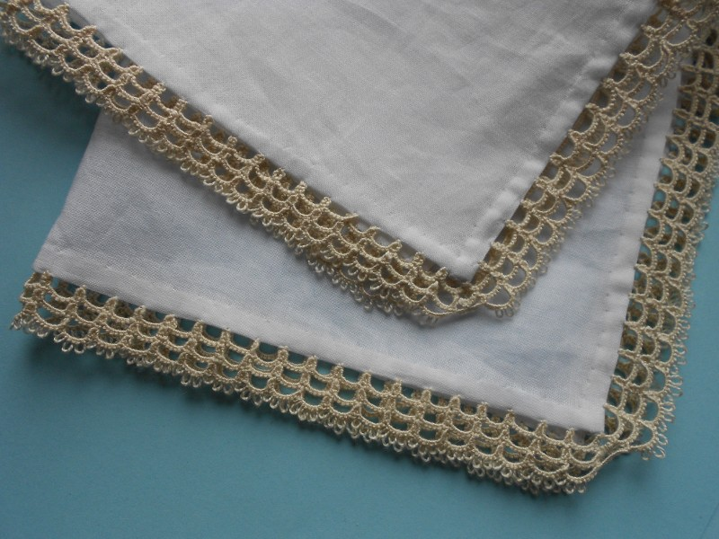 19th century handkerchief over and its pattern