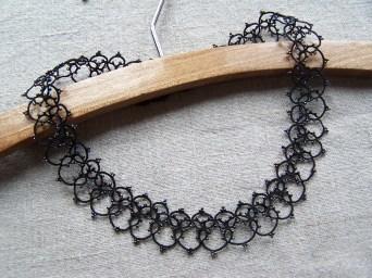 Diagramme de frivolité pour un collier