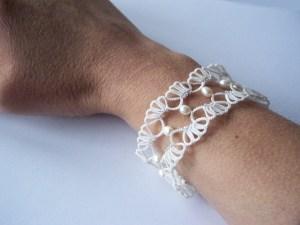 Modèle bracelet frivolité