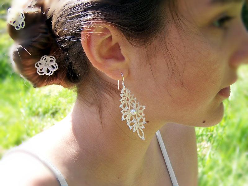 Boucles d'oreille dentelle