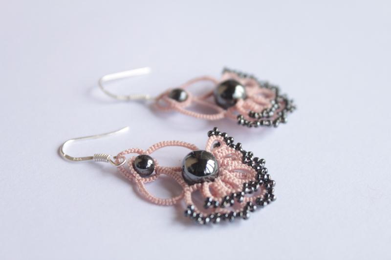 boucles d'oreille à double rangée d'anneaux