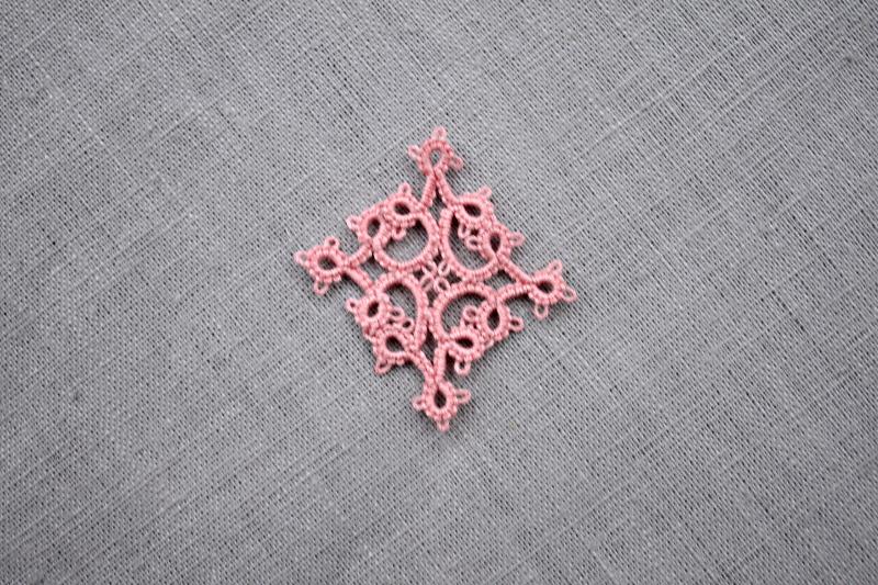 Carré rose – Pink square pattern