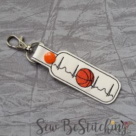 ITH – Basketball EKG snap tab fob 4×4 and 5×7 Grouped