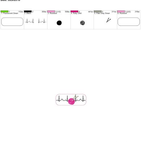 Knitting-EKG-Fob