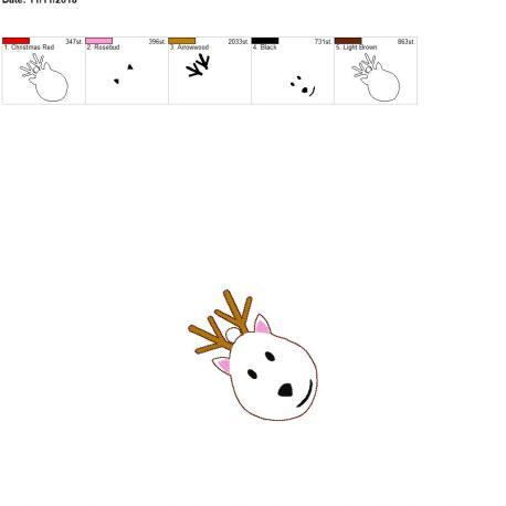 Winter Reindeer Ornament 4×4