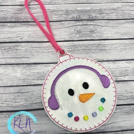 ITH Snowman Ornament 4×4 and 5×7 included- Embroidery Design – DIGITAL Embroidery DESIGN