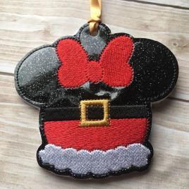 ITH – Santa Girl Mouse Ornament 4×4