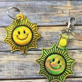 ITH Sunshine Snap Tab & Eyelet Fob 4×4 and 5×7 included- Embroidery Design – DIGITAL Embroidery DESIGN