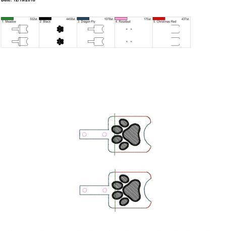 Paw Sanitizer holder snap tab 5×7 grouped