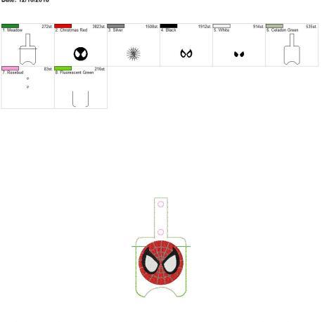 Spider Hero Sanitizer holder snap tab 5×7
