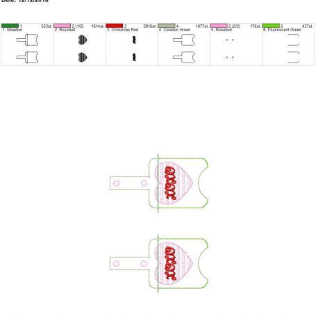 Xoxo Sanitizer holder snap tab 5×7 grouped