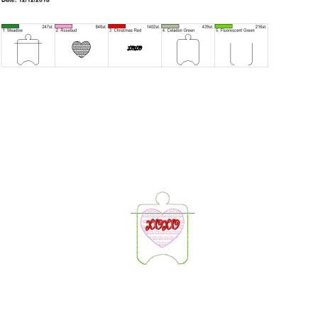Xoxo sanitizer holder eyelet 4×4