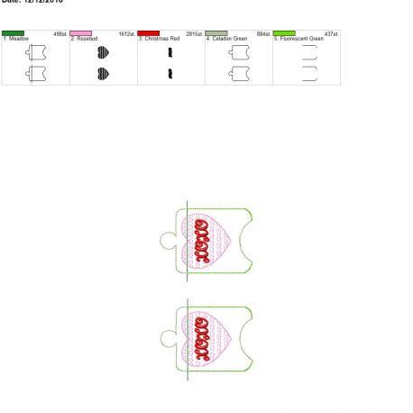 Xoxo sanitizer holder eyelet 5×7 grouped