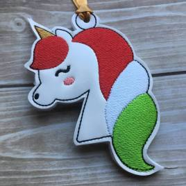 ITH – Unicorn Ornament 4×4 and 5×7 Grouped
