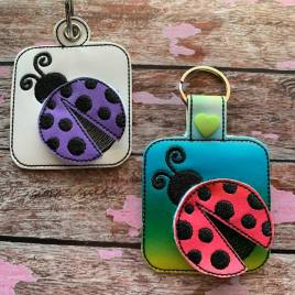 ITH 3D Ladybug Fobs- 4×4 and 5×7 grouped- Embroidery Design – DIGITAL Embroidery DESIGN