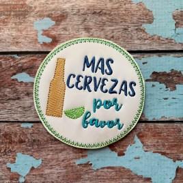 ITH Mas Cervezas Por Favor Coaster 4×4 – DIGITAL Embroidery DESIGN
