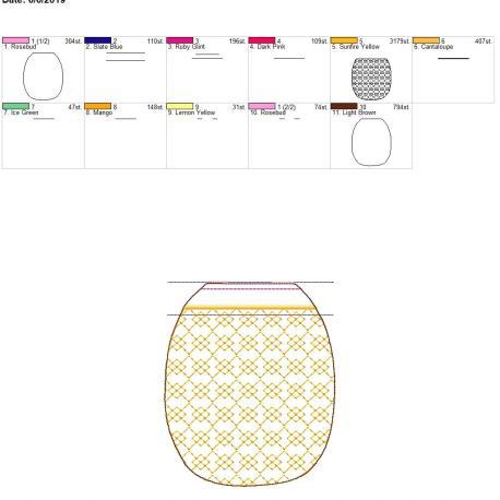 3D pineapple zipper bag 5×7