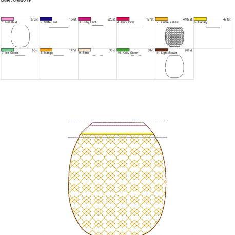 3D pineapple zipper bag 6×10