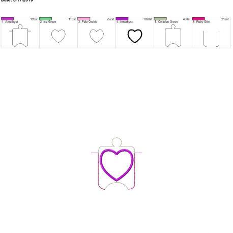 applique heart sanitizer holder eyelet 4×4