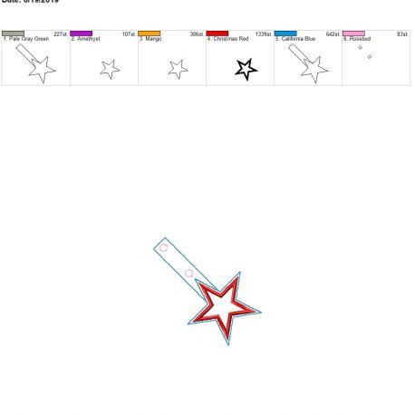 applique star snap tab 4×4