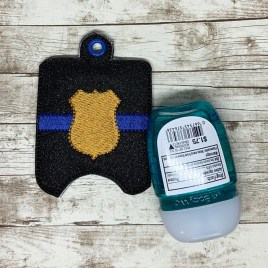ITH Blue Line Shield Sanitizer Holder 4×4 and 5×7 included- DIGITAL Embroidery DESIGN
